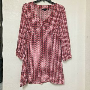 Boden Dress Viscose Size 12 3/4 Sleeves